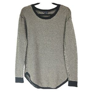 Splendid Cotton & Silk Black and Tan Pullover